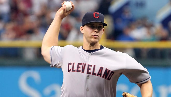 Indians pitcher Justin Masterson has won four of his first five starts this season and pitched to a 1.85 ERA.