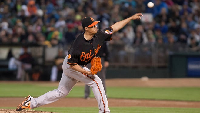 Orioles starting pitcher Wei-Yin Chen threw eight strong innings for Baltimore against Oakland. The Orioles won 3-0.
