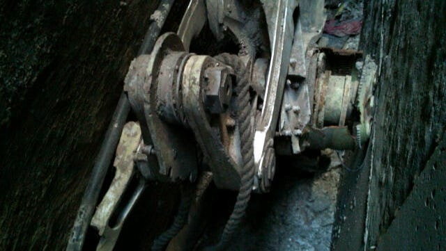 Part of a landing gear, apparently from one of the commercial airliners destroyed on September 11, 2001, was discovered wedged between the rear of 51 Park Place and the rear of the building behind it, 50 Murray Street, in lower Manhattan.