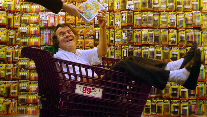 In this Dec. 24, 2002, photo, Dave Gold, founder of the 99 Cents Only Stores chain, is photographed in Los Angeles.