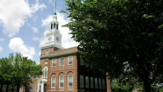 Baker Hall stands on the campus of Dartmouth College.