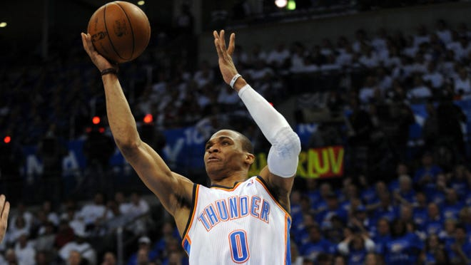 Russell Westbrook will miss the rest of the playoffs with a torn left meniscus.