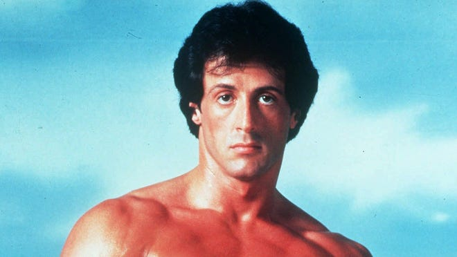 Sylvester Stallone posing in character as Rocky Balboa in the boxing film, 'Rocky.' The musical has been a knock-out in Germany.