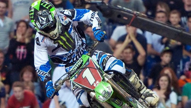 Ryan Villopoto, shown riding in Indianapolis in 2012, won his third AMA Supercross title on Saturday.