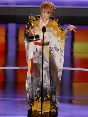 Jeanne Cooper accepts the award for outstanding lead actress in a drama series at the Emmy Awards in Los Angeles in 2008.