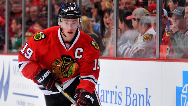 Chicago Blackhawks captain Jonathan Toews has been one of the league's top two-way players this season.