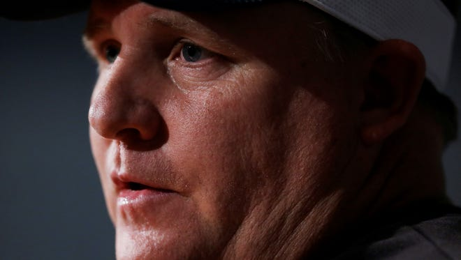 Philadelphia Eagles head coach Chip Kelly speaks during a news conference at the team's NFL football training facility, Tuesday, April 16, 2013, in Philadelphia.