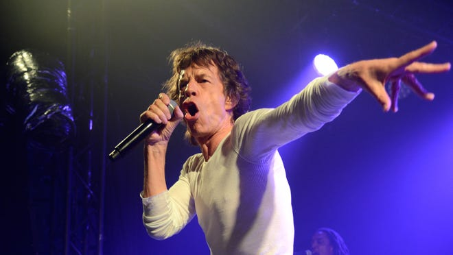Mick Jagger at the Echoplex in Los Angeles.
