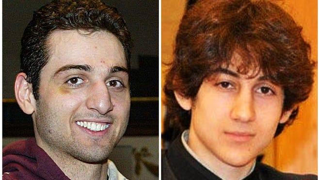 Tamerlan Tsarnaev, left, and Dzhokhar Tsarnaev are suspects in the Boston Marathon bombings.