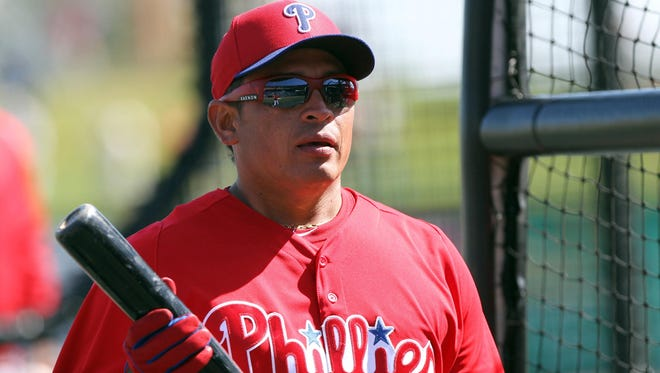 """Carlos Ruiz said he was """"real happy"""" driving north to re-join the Philadelphia Phillies after his suspension."""