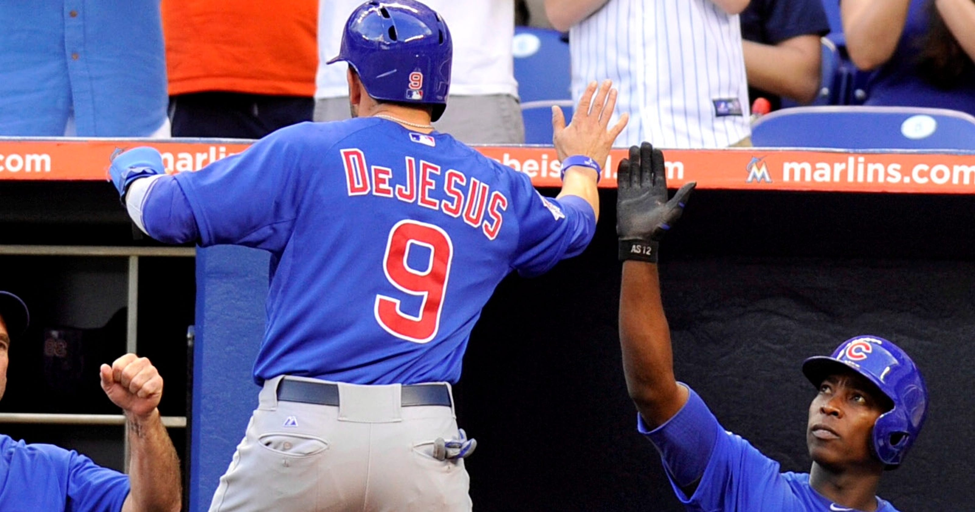purchase cheap 2b563 022db David DeJesus RBI lifts Chicago Cubs over Miami Marlins