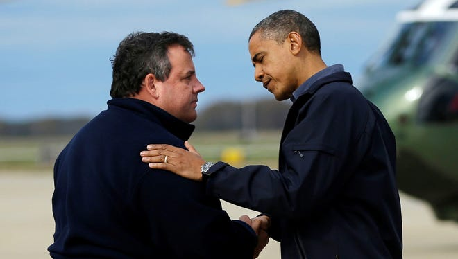 President Obama and New Jersey Gov. Chris Christie worked on Hurricane Sandy recovery together.