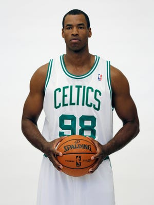 NBA veteran Jason Collins, shown when he played for the Boston Celtics, is the first male pro athlete in American team sports leagues to come out as gay.