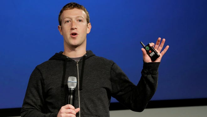 Facebook CEO Mark Zuckerberg speaks at Facebook headquarters in Menlo Park, Calif., on March 7.