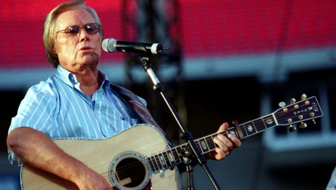 George Jones performs in Nashville on June 13, 2002.