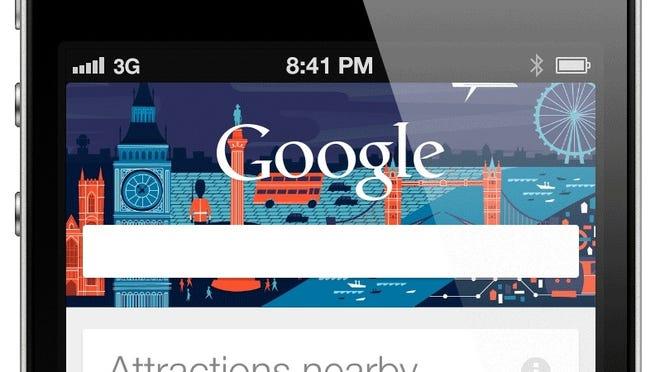 The Google Now app.