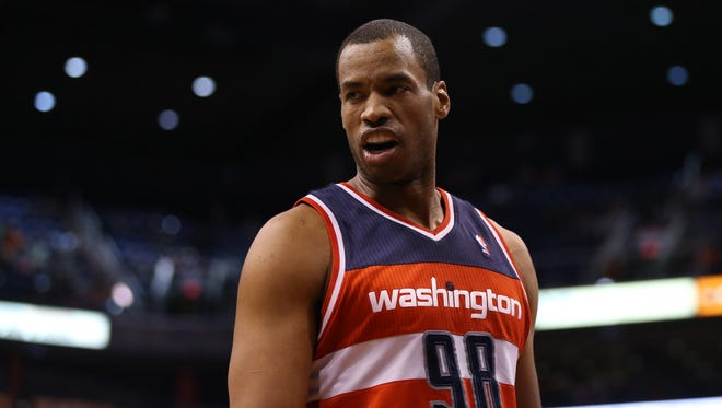 Jason Collins finished this season with the Wizards.