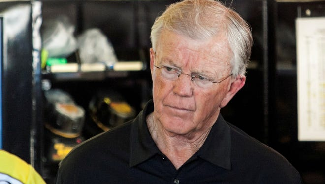 Team owner Joe Gibbs were especially upset about NASCAR's decision to prevent Gibbs from earning any owner points on the No. 20 car for six weeks – meaning it could no longer win an owner's championship this season.