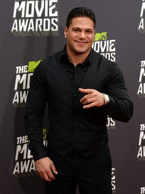 Ronnie Ortiz-Magro arrives at the 2013 MTV Movie Awards at Sony Pictures Studios on April 14 in Culver City.