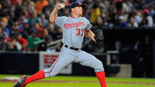 Stephen Strasburg pitched well, but once again not well enough to beat the Atlanta Braves.