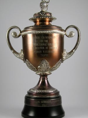 Al Geiberger's Wanamaker Trophy for the 1966 PGA Championship.