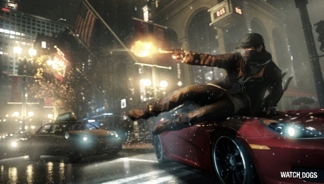 A scene from the action game 'Watch Dogs.'