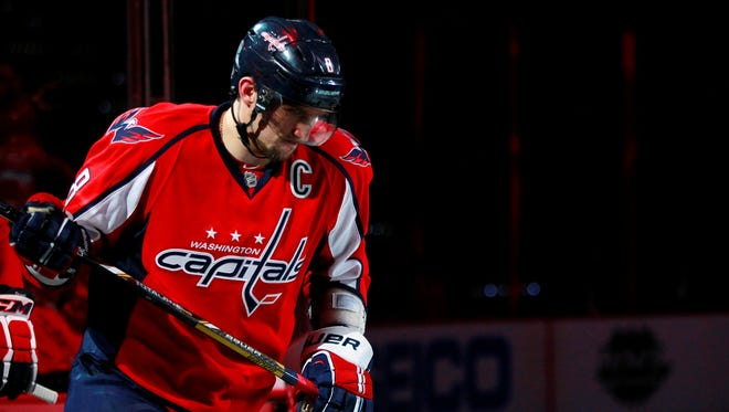 Washington Capitals left wing Alex Ovechkin was the NHL's top goal scorer this season.