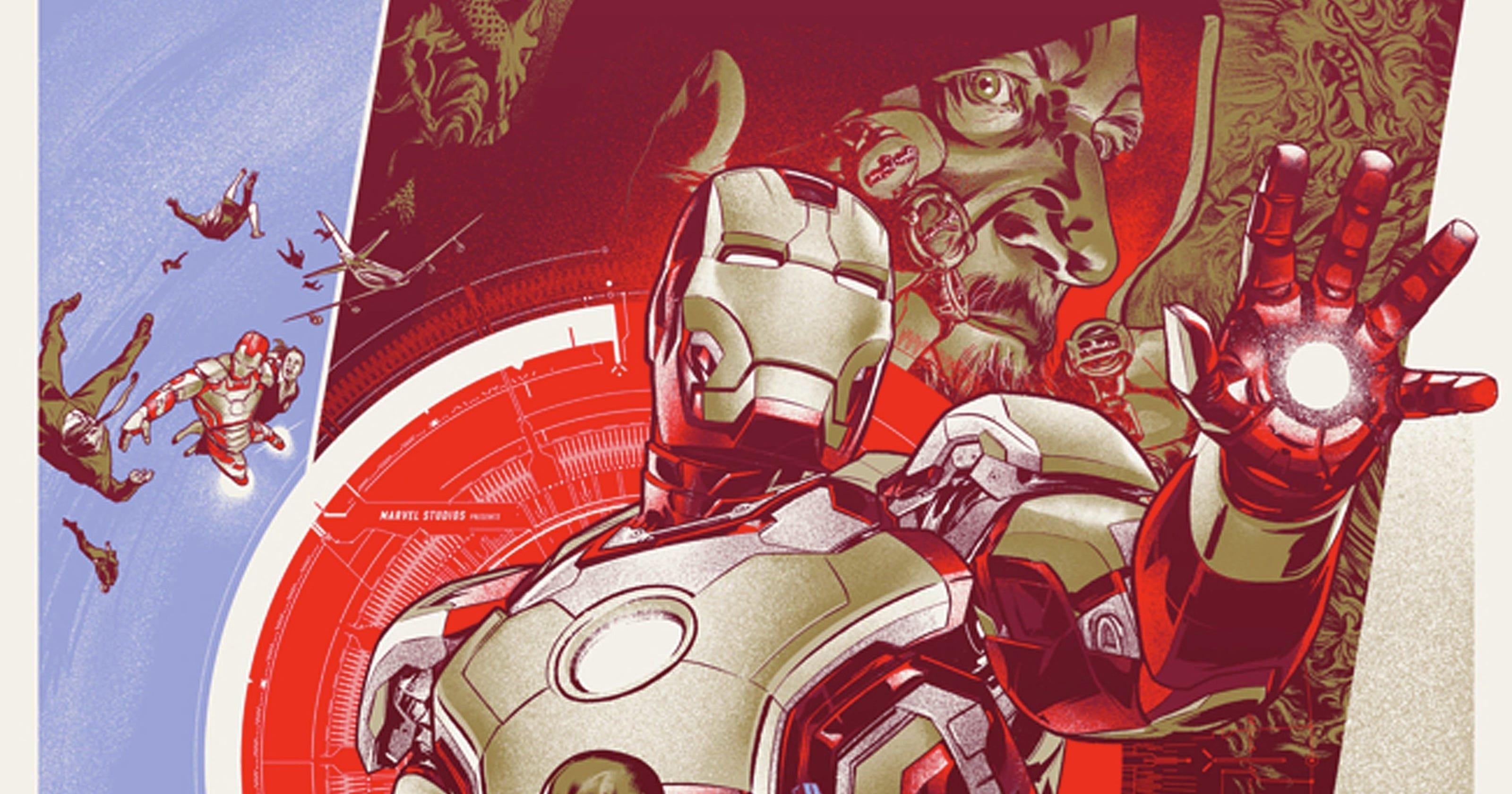 Mondo Unveils Three Collectible Iron Man 3 Posters Suit Schematics