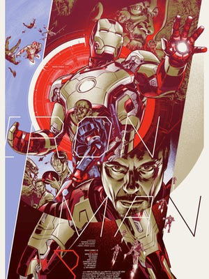"The limited-edition variant of Martin Ansin's ""Iron Man 3"" poster is one of three prints being sold by Mondo on Friday."