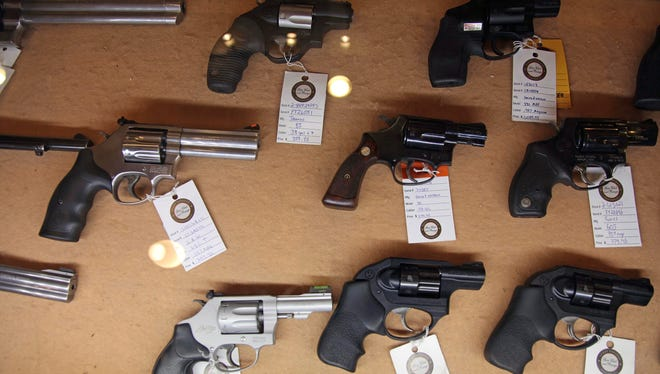 The U.S. 5th Circuit Court of Appeals has upheld a federal ban on the sale by federally licensed dealers of handguns to anyone under the age of 21. These handguns were displayed in the sales area of Sandy Springs Gun Club and Range in Sandy Springs, Ga.