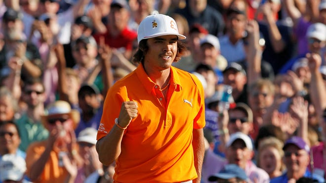 Rickie Fowler claims the 2012 Wells Fargo Championship title.