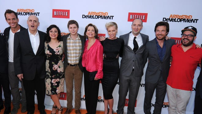The cast of 'Arrested Development' arrives at the Netflix premiere of Season 4 at the TCL Chinese Theatre on April 29.