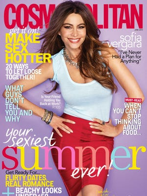 Actress Sofia Vergara on cover of June 'Cosmopolitan.'