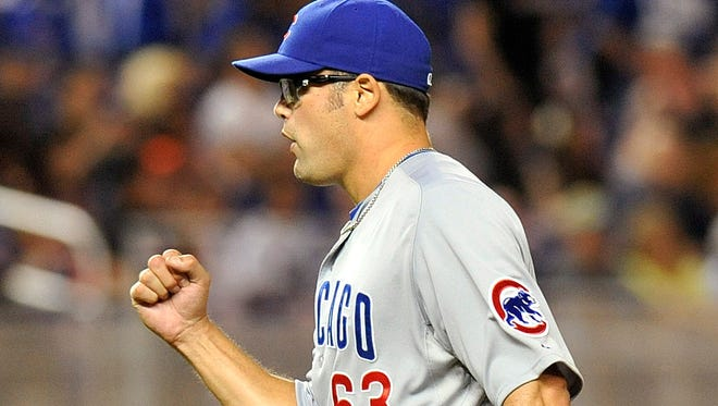 The Cubs' Kevin Gregg has struck out six batters and racked up four saves in the 5 1/3 innings since taking over the closer's role.