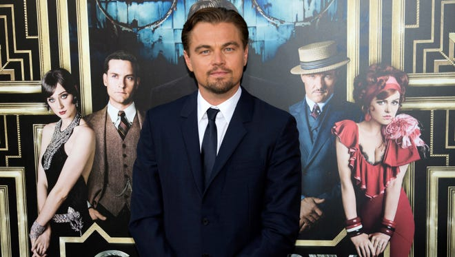 Leonardo DiCaprio arrives at the world premiere of 'The Great Gatsby' in New York Wednesday.
