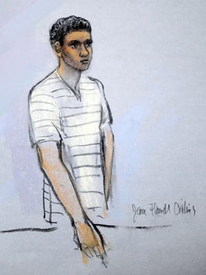 Robel Phillipos, 19, appeared in federal court in Boston on May 1 after he was charged with lying to investigators about marathon bombing suspect Dzhokhar Tsarnaev.