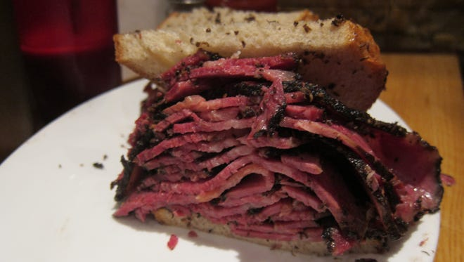 The 'normal' pastrami sandwich is still too much for most, with about a pound of meat --? all smoked in house.