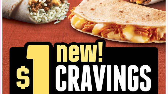 Taco Bell is currently offering a dollar cravings  menu in limited test markets.