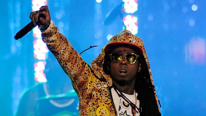 "Lil Wayne performs at the Caesars Entertainment ""Escape To Total Rewards"" concert in Los Angeles."