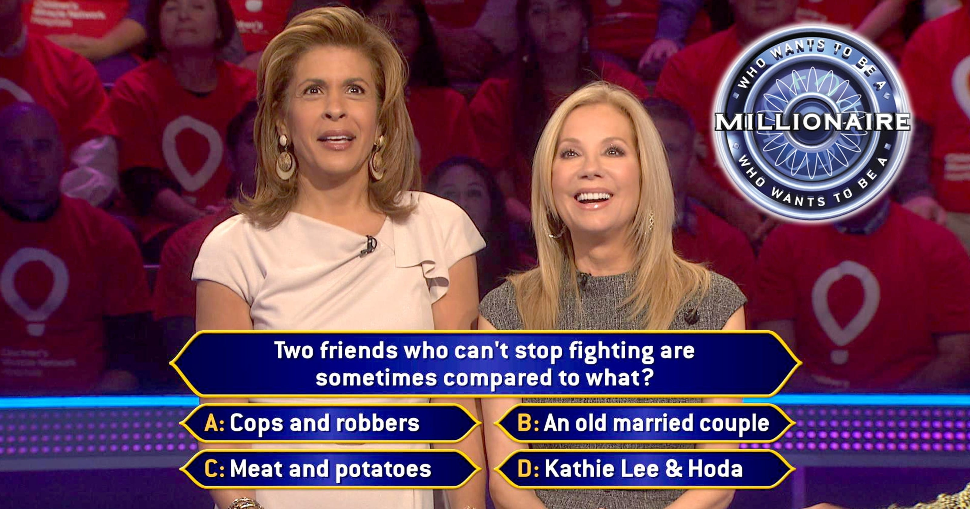 Kathie Lee Hoda Play Millionaire For Charity