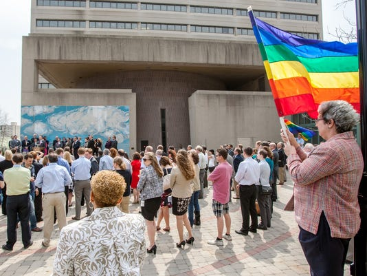 supporters against same sex marriage in Wilmington