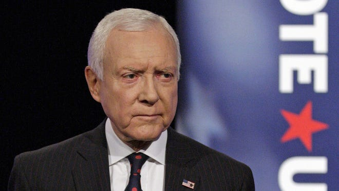 Sen. Orrin Hatch, R-Utah, has introduced an amendment that would help large technology firms deal with visa requirements for foreign workers. Hatch is seen here in an Oct. 17, 2012, campaign debate.