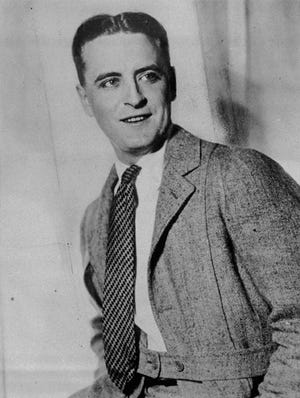 F. Scott Fitzgerald poses for a portrait in 1920. Check out the book by the numbers.