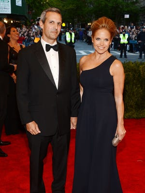 John Molner and Katie Couric attend Monday's Met gala.