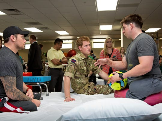 Prince Harry at Walter Reed