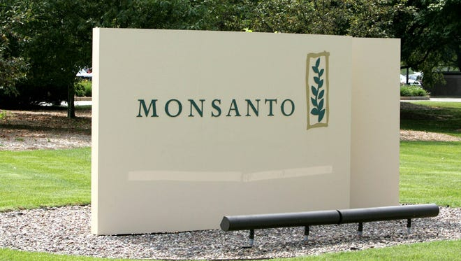 The entrance to the  Monsanto Company, headquartered in St. Louis, is seen in 2005.