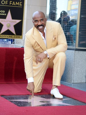 Actor, comedian and radio host Steve Harvey is honored with a star on the Hollywood Walk of Fame in Hollywood.