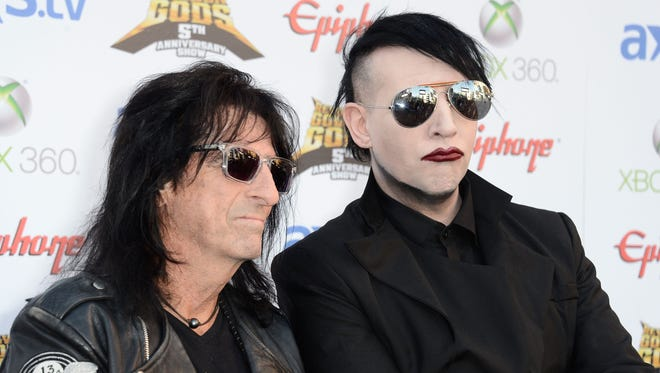 """Alice Cooper and Marilyn Manson, together at the 5th Annual Revolver Golden Gods Award Show in Los Angeles, are featured in """"Louder Than Hell."""""""