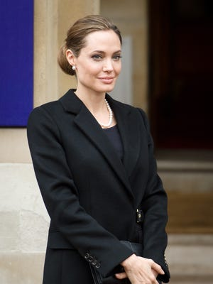 Angelina in London on April 11.
