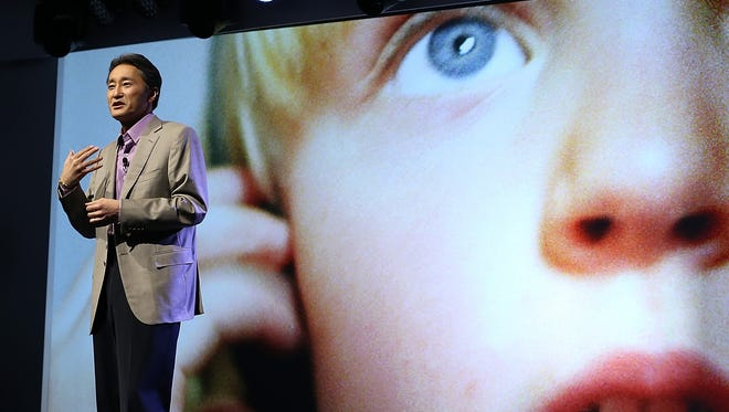 Sony CEO Kazuo Hirai speaks during a Sony press conference at the 2013 International CES in Las Vegas in January.